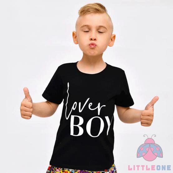 Marškinėliai Lover BOY (juoda)