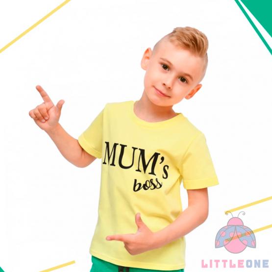 Marškinėliai Mum's Boss (geltona)