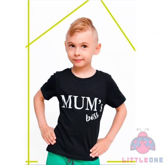 Marškinėliai Mum's Boss (juoda)