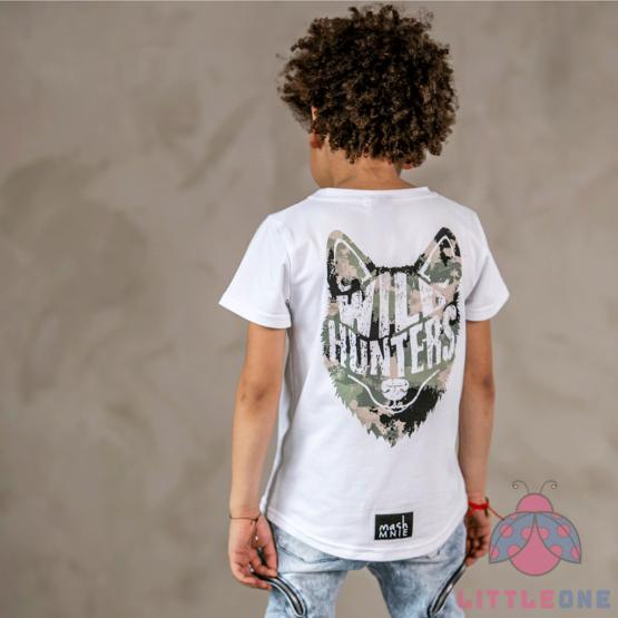 Marškinėliai WILD WOLF CAMOUFLAGE (balti)