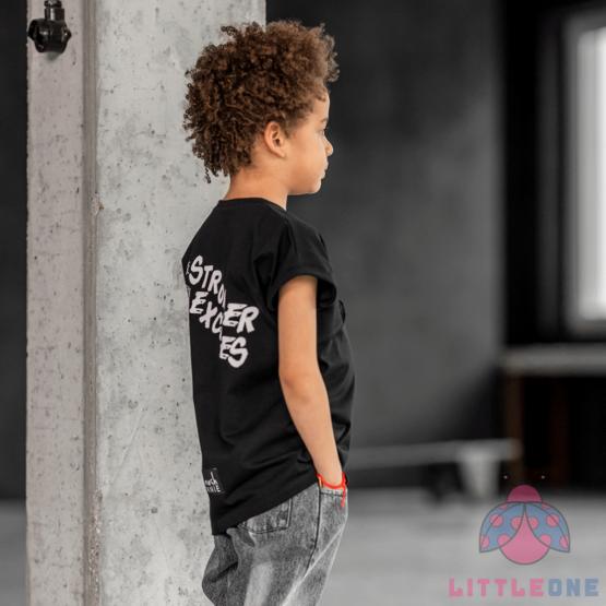 Marškinėliai STRONGER CAMOUFLAGE (juodi)