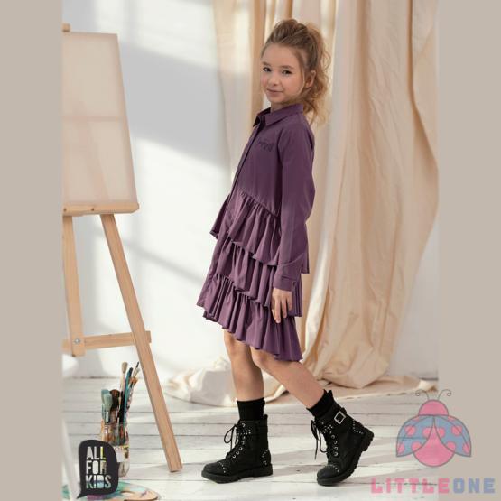 Marškinių tipo suknelė (violetinė)